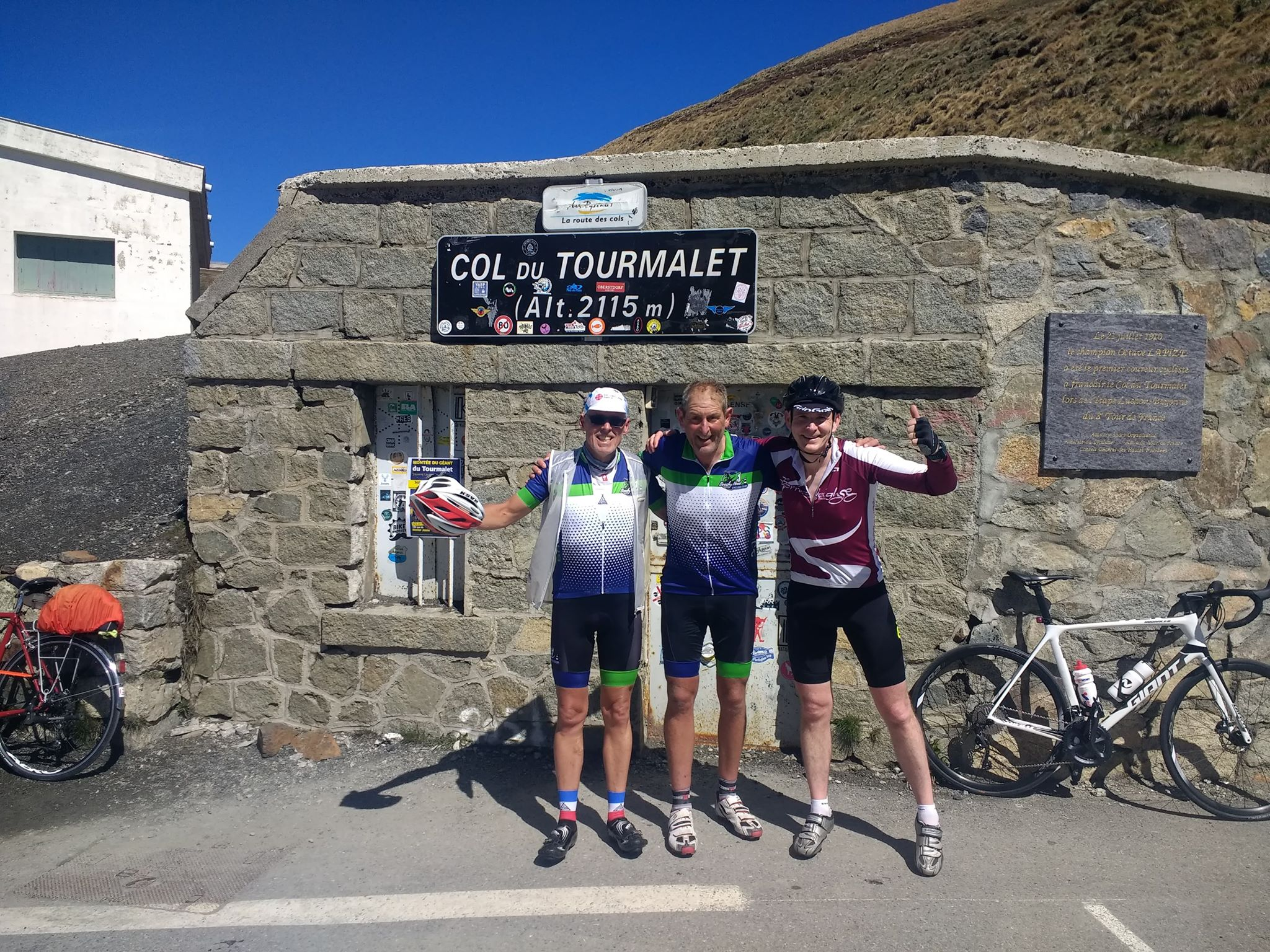 Justin and Marcel on the Col du Tourmalet